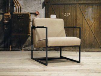 industriele leren fauteuil