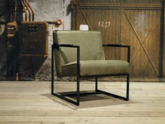 leren fauteuil pesara groen