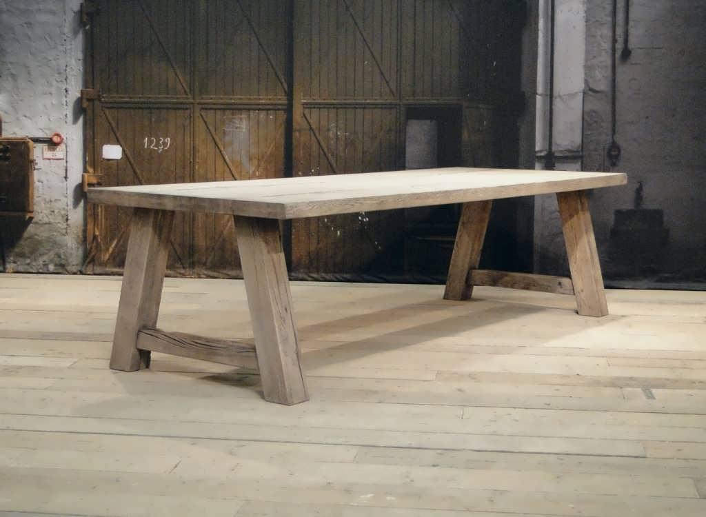 Robuuste Eiken Tafel : Eiken blokpoot tafel limoges robuust eiken robuustetafels