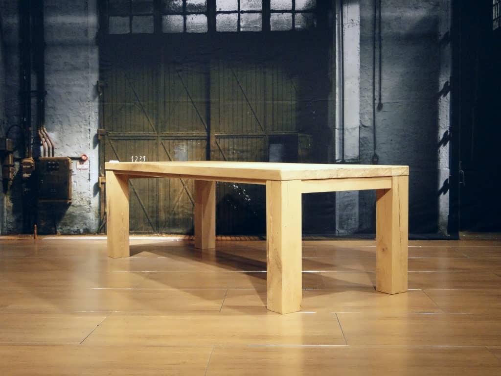 Tafel Opnieuw Lakken : Eiken blokpoot tafel campo rustiek eiken robuustetafels