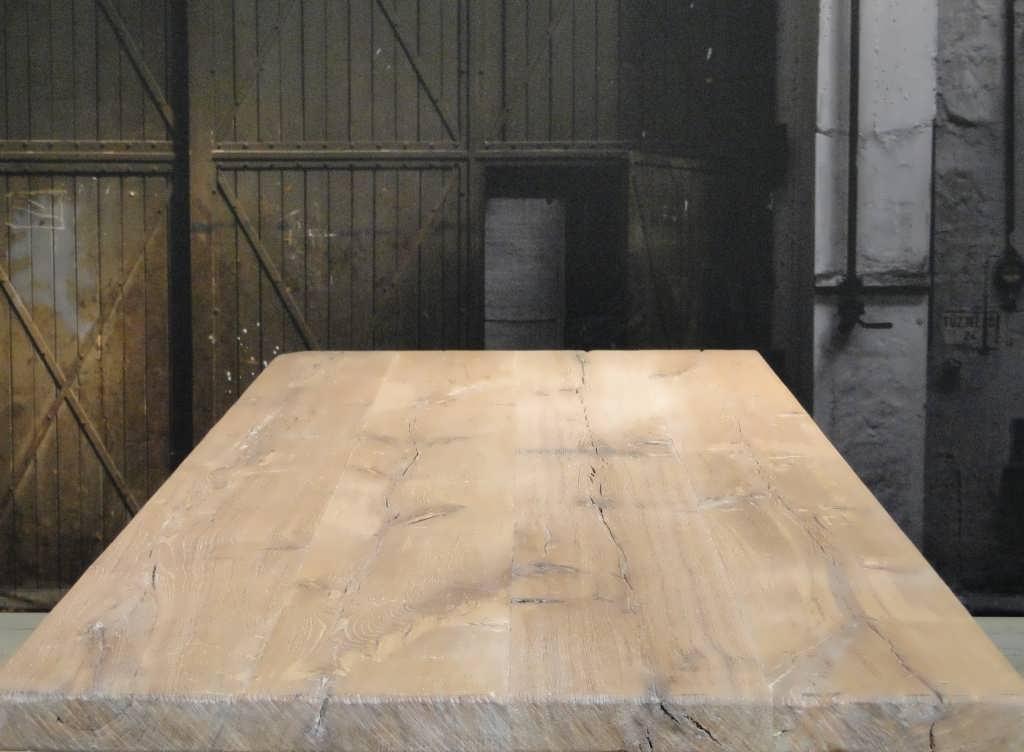 Eiken maatwerk tafel paysan rustiek eiken robuustetafels