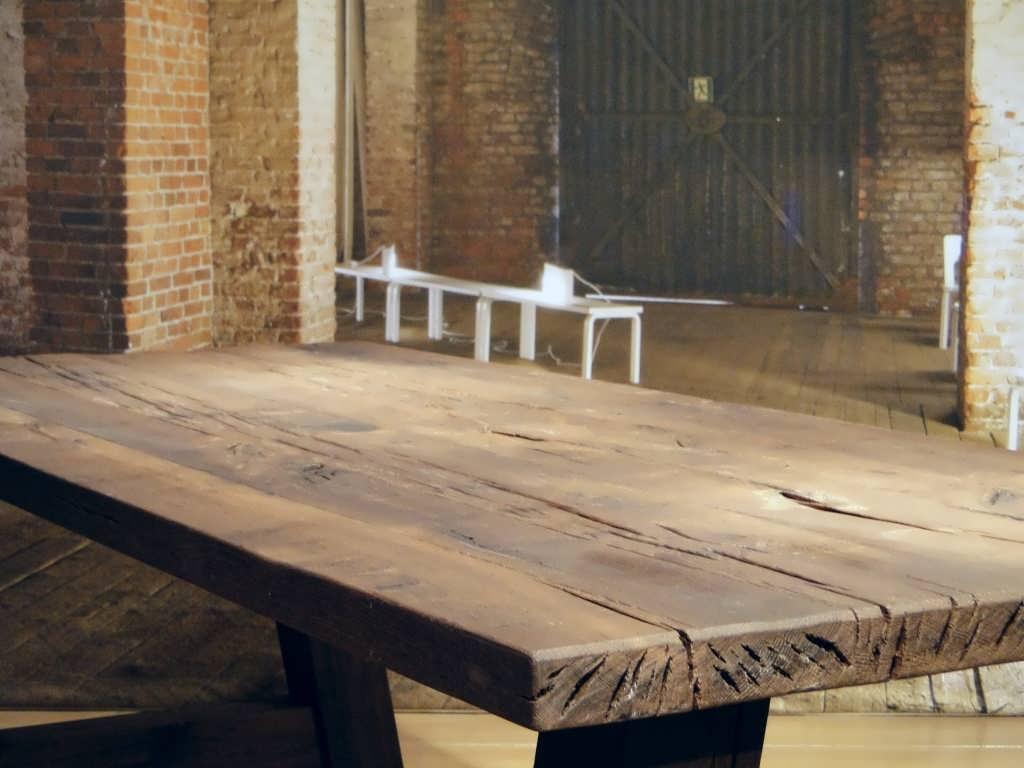 Oude Eiken Tafel.Paysan Eettafel Maatwerk Van Dikke Balken Robuustetafels Nl