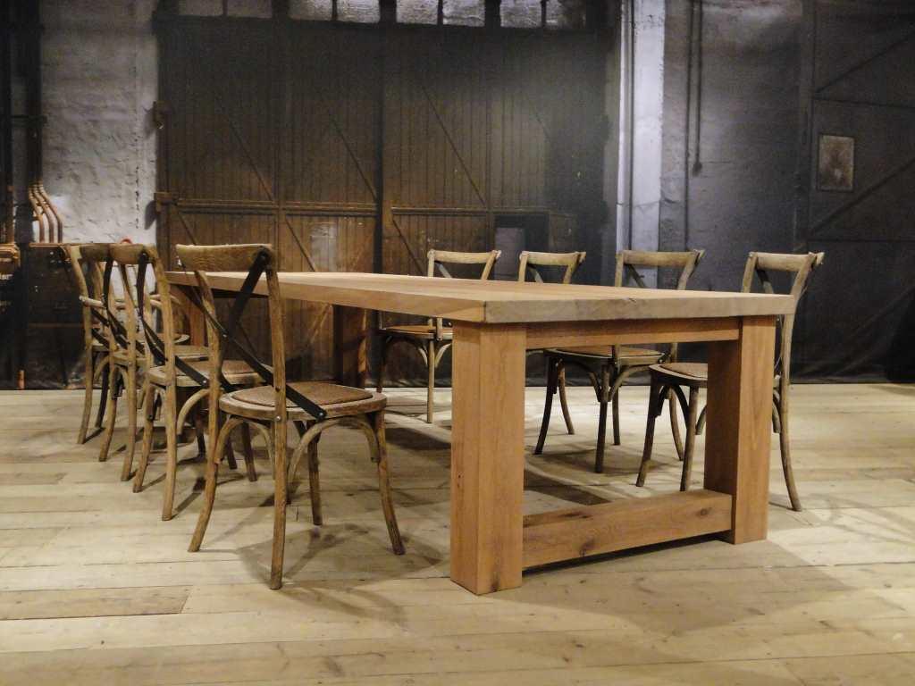 Rustiek Eiken Kast : Maatwerk balken tafel reidar rustiek eiken robuustetafels