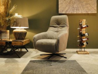 relax fauteuil Amalfi - leer taupe (2)