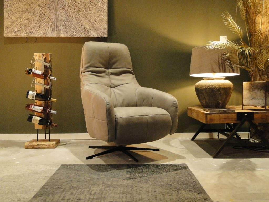 Stoere relaxfauteuil