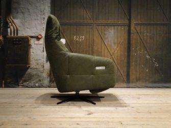 Groen leren relax fauteuil