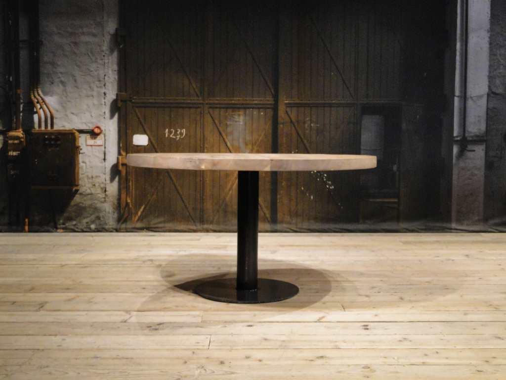 Ronde Tafel Industrieel : Ronde eettafel trappes ook vierkant verkrijgbaar robuustetafels