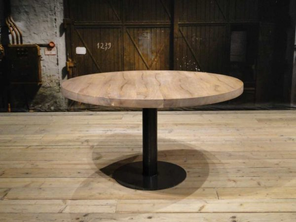 Grijze ronde tafel