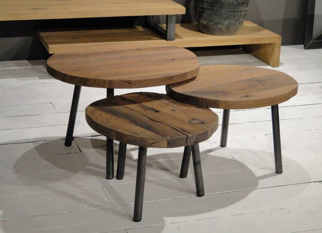 Welp Moretta salontafel van oude franse eiken balken | RobuusteTafels.nl FP-49