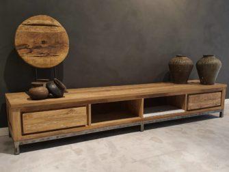 tv-meubel oud teakhout