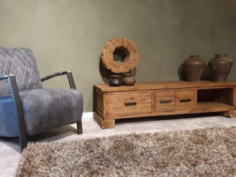 tv meubel van oud hout