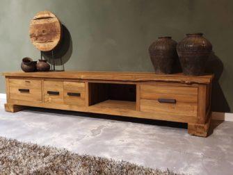 houten tv meubel met opbergruimte