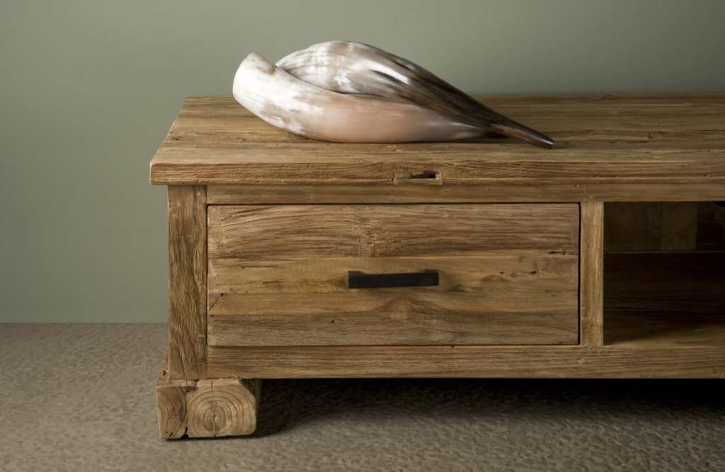 Tv Meubel Teakhout : Driftwood tv meubel corrado lade robuustetafels