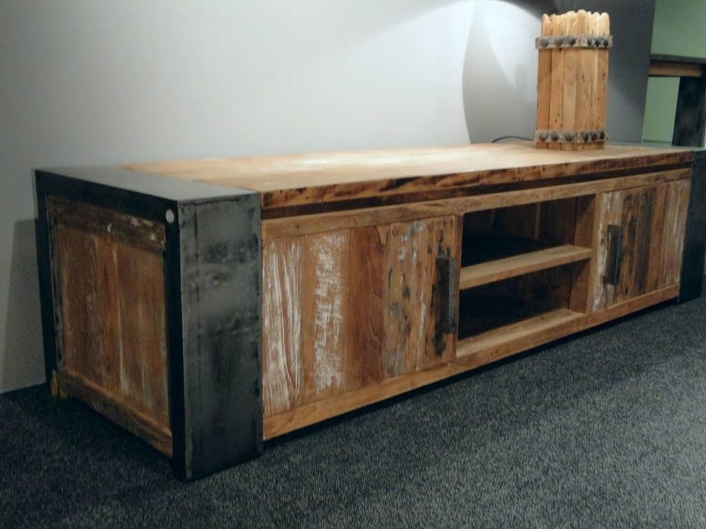 Houten tv meubel asmund van oud hout robuustetafels
