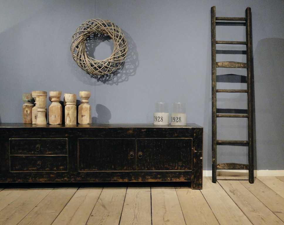 Tv meubel epernay gemaakt van oud chinees elm hout robuustetafels