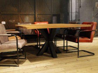 vierkante industriele tafel